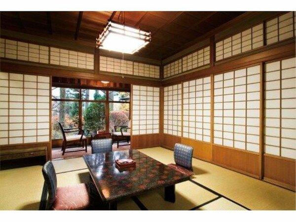 本館飛騨の匠の技と昭和の浪漫を堪能する昭和6年建築の登録有形文化財のお部屋