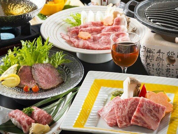 飛騨牛会席イメージ(料理内容は仕入れ、季節等により予告なく変更になる場合があります。)