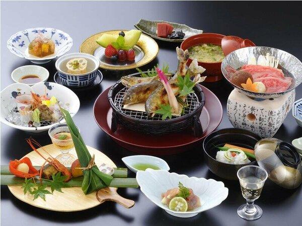 料理の一例(イメージ)基本料理内容より一層質を重視したグレードアップ会席となります。※鮎は3名様分