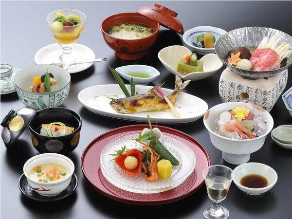 料理の一例(イメージ)季節の彩り膳(基本)※季節により鮎が提供出来ない場合があります。