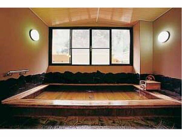 大浴場ひのき風呂(朝・夕 男女入替)