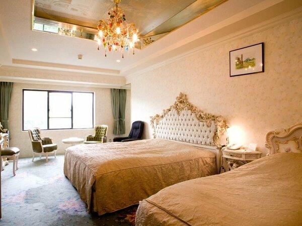 【本館洋室】本館洋室。シングルベッド2台のツインルームです。