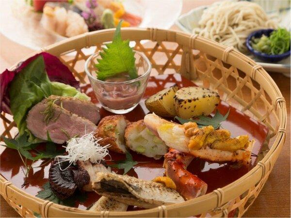 創作和食コースのお料理一例。旬の味覚をお愉しみくださいませ。