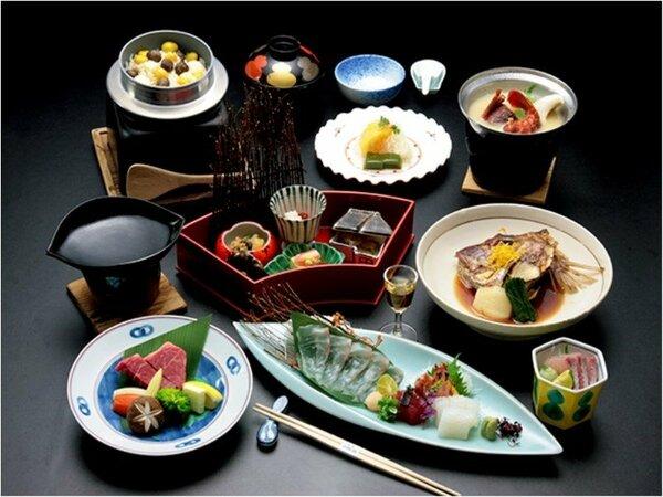 品数を少なめにした、神戸牛付き少量上質会席料理※イメージ