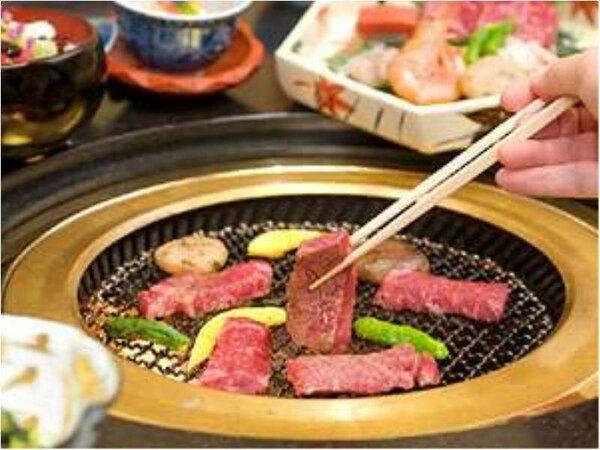 【炭火焼会席】新鮮な厳選食材を目の前で炙り焼き。炭火の遠赤外線効果で旨みが凝縮されます。※イメージ