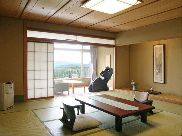 【北館客室(ハイグレード)】12階から15階にあり、眺望がお楽しみいただけます。マッサージチェア付