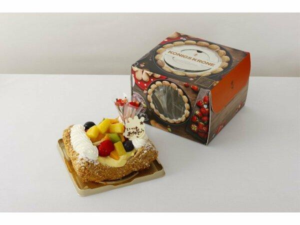 パイケーキ例  お持ち帰りの箱・保冷バッグ付きです。