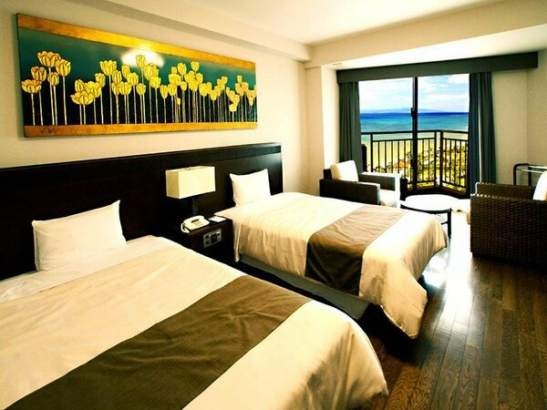 オーシャンビュールーム(ツインルーム 一例)八重山の海を堪能できるリゾートホテルならではの眺望