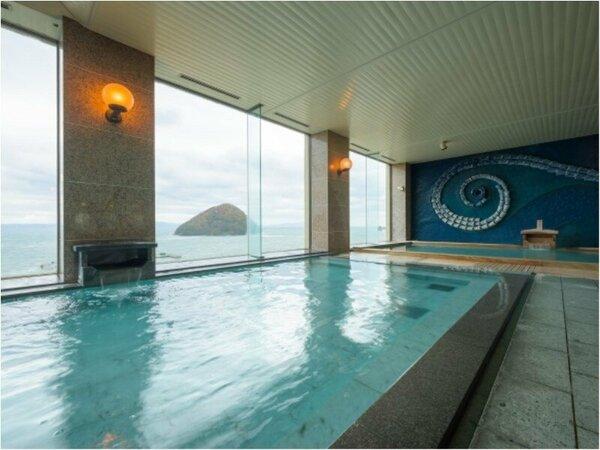 ★展望風呂から望む「湯の島」
