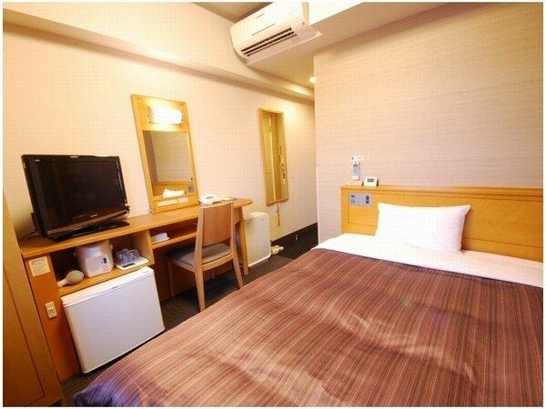 ≪シングルルーム≫ 客室面積9.7平米 ベッド幅140cm