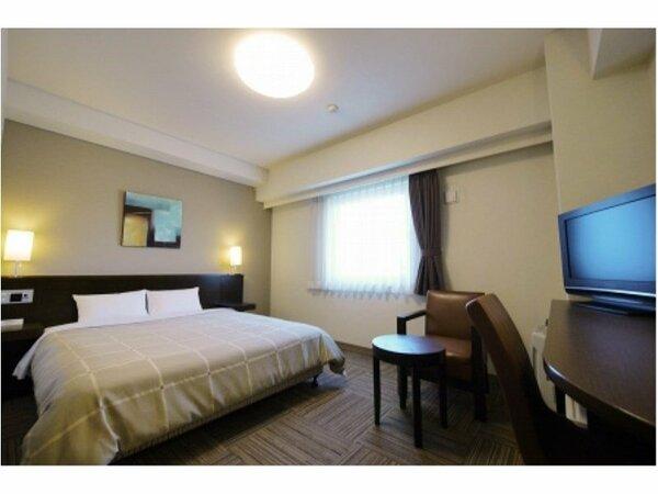 【ダブル】ベッドサイズ160×196(cm) 全室無料Wi-Fi&加湿機能付空気清浄器完備