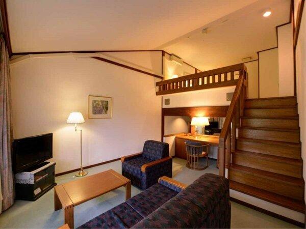 *【メゾネット(一例)】1階はリビング、2階はベッドルームのお部屋。