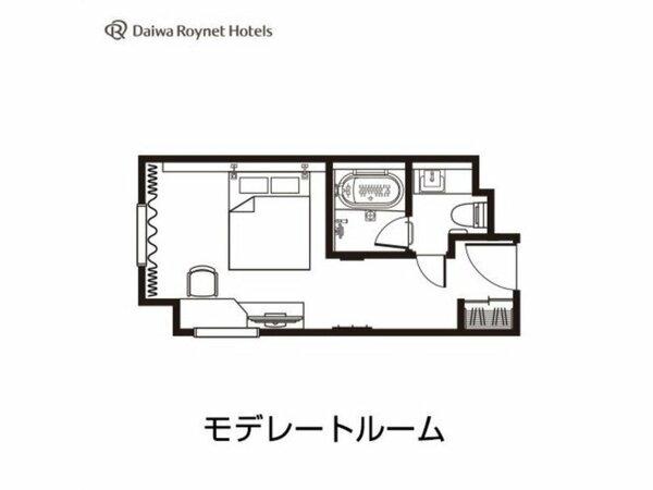 モデレート間取り図/20平米/ベッド幅154cm