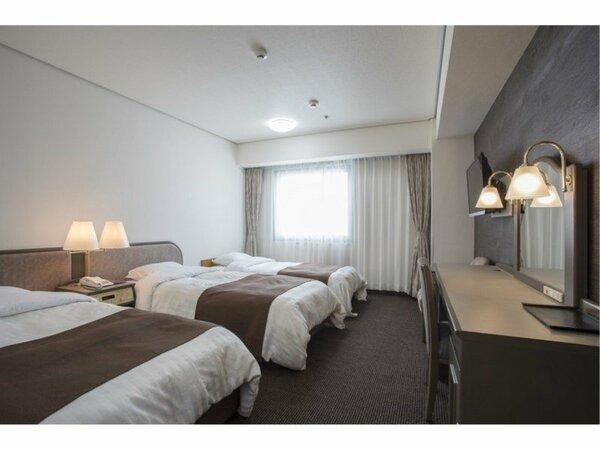 ■【本館】トリプル■お部屋の広さ/23平米■ベッド(シングルベッド*2台 エキストラベッド1台)