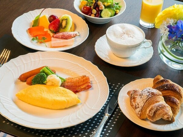 クラブフロア専用ラウンジ朝食卵料理