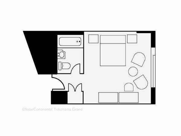 【客室見取り図】ダブルルーム(31平米)
