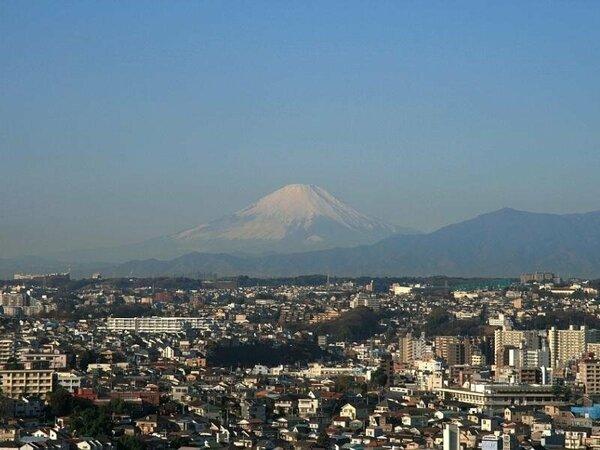 晴れた日には客室から富士山を望むことができます。
