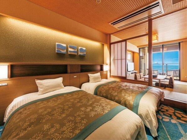 *【客室:基準室(一例)】海を眺める客室で、寛ぎの時間を。