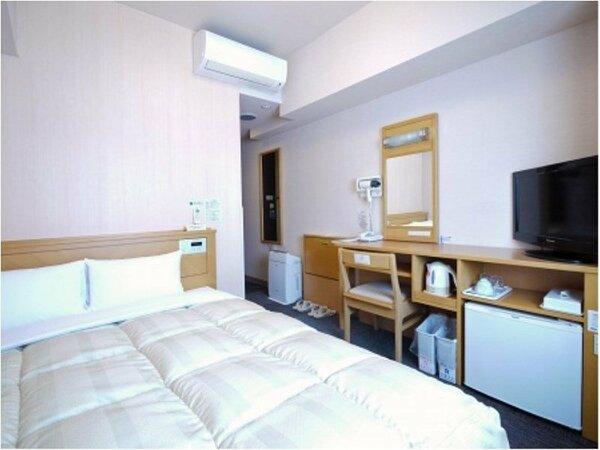 【セミダブルルーム】ベッドサイズ140×196(cm) 全室無料Wi-Fi&加湿機能付空気清浄器完備