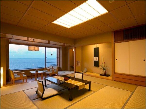 【和室デラックス】一枚ガラスの大きな窓から広大な日本海を独り占め♪★人気No1客室★