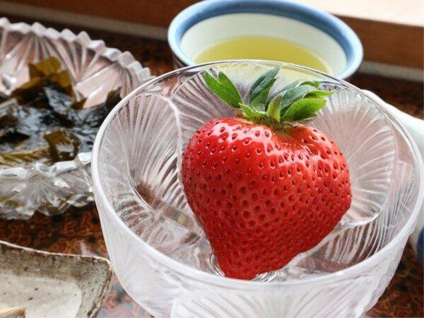 *【お料理】季節のデザートはとっても新鮮なものをご提供!