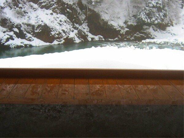 露天風呂 【華の湯】 ―銀世界と水鏡。―